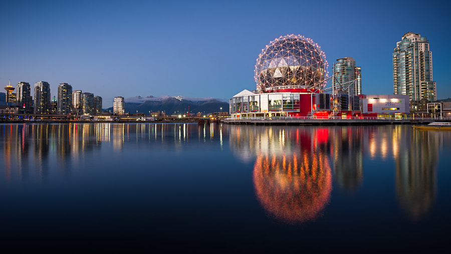 most beautiful cities in the world - False Creek Blue Hour by Ray Green on 500px.com