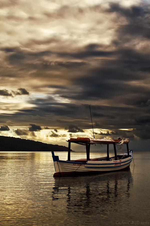 Photograph Lonely Boat by Carlos CB on 500px
