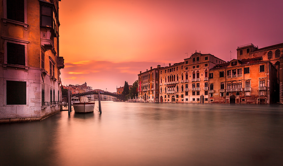 Venice Sunset Long Exposure