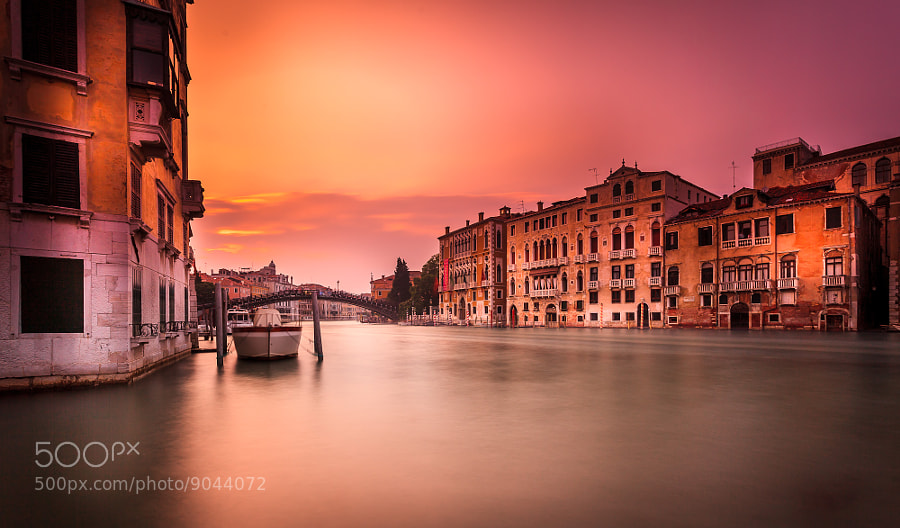 Photograph Venice Sunset Long Exposure by Ramelli Serge on 500px