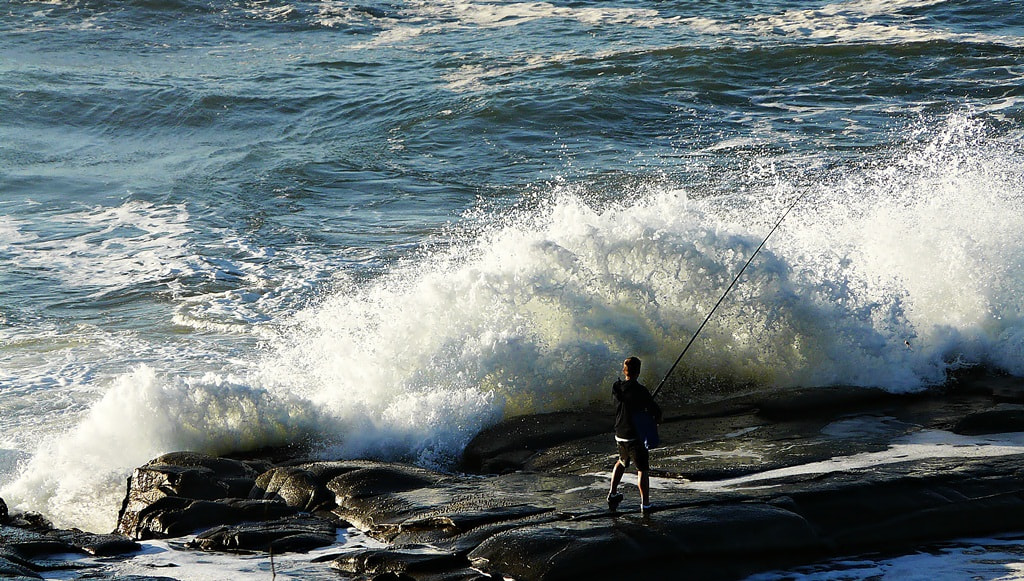 Photograph fishing on Rocks  by Lee Harth on 500px