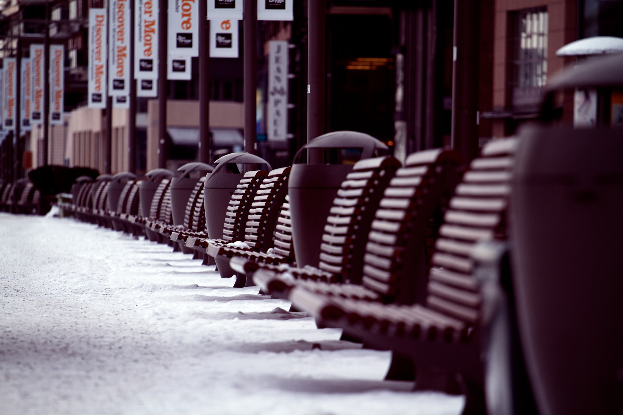 Photograph Empty benches by Christian Bedsvaag on 500px