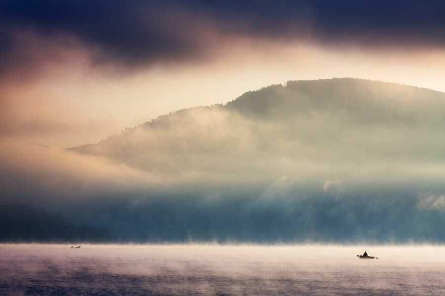 Photograph Dawn on the lake... by Marcin Sobas on 500px