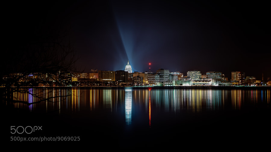 Photograph Madison Night Skyline by Brian Behling on 500px