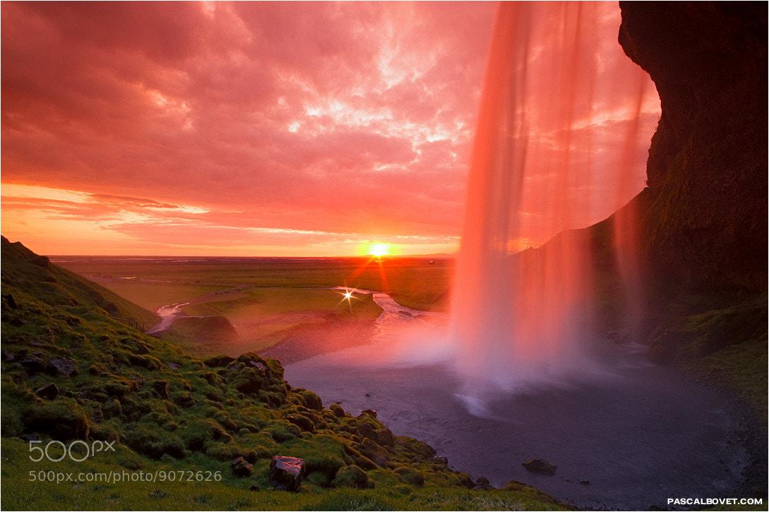 Photograph Seljalandsfoss Sunset by Pascal Bovet on 500px