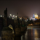 Постер, плакат: Charles Bridge and St Nicolas Church