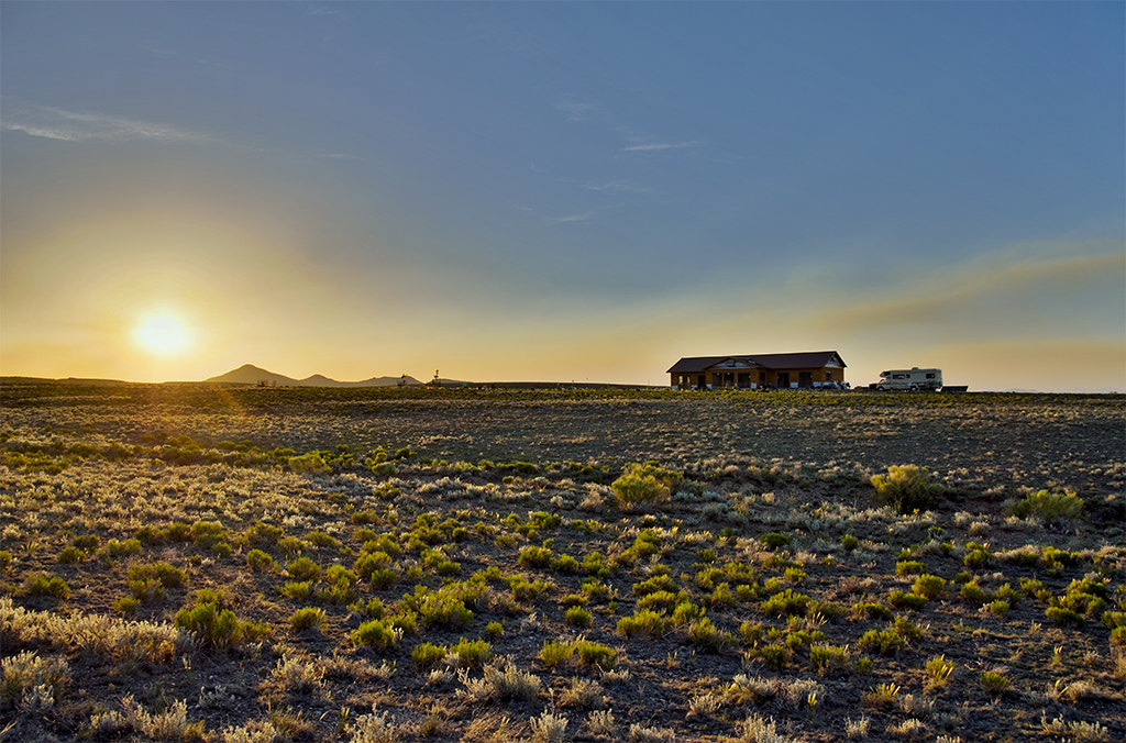 Photograph Sunset of Venus Transit at Ranch over Dog Mountain © John Brink by John Brink on 500px