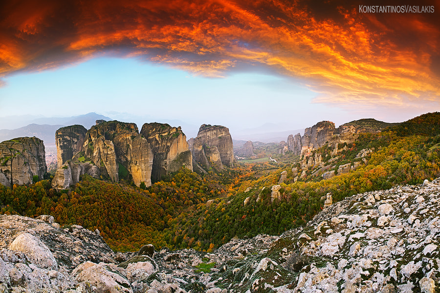 Photograph Meteora in the heavens above by Konstantinos Vasilakis on 500px