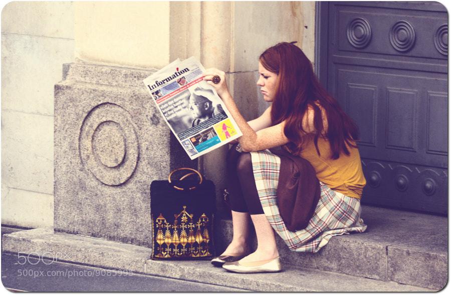 Photograph Girl on steps by Jóhann Ingi on 500px
