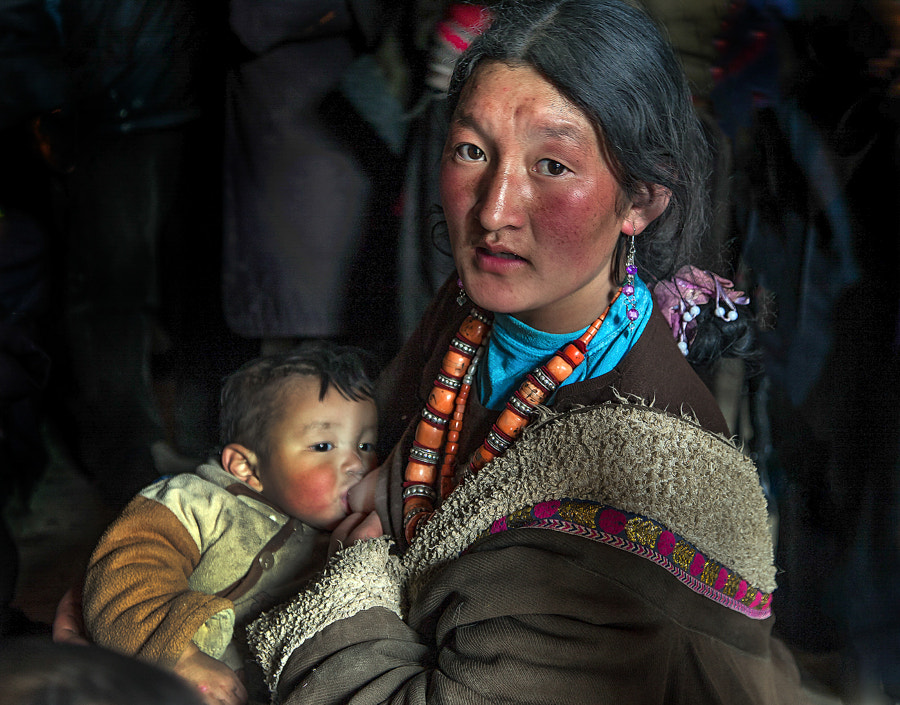 Photograph A Tibetan Woman Breastfeeding Baby by Jungshik Lee on 500px