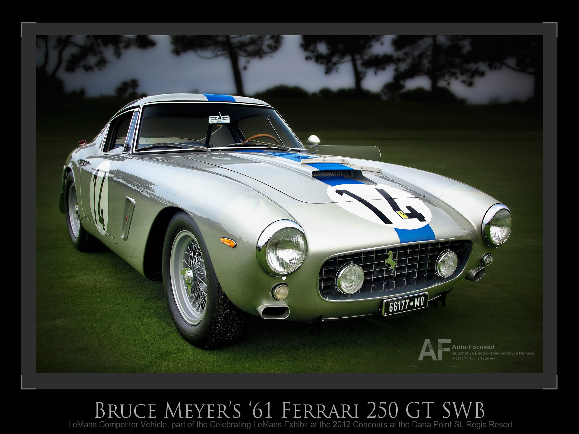 Photograph '61 LeMans Competition Ferrari 250GT SWB by Royce Rumsey on 500px
