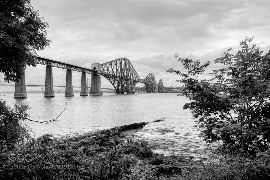 Forth Bridge in Edinburgh, Scotland...