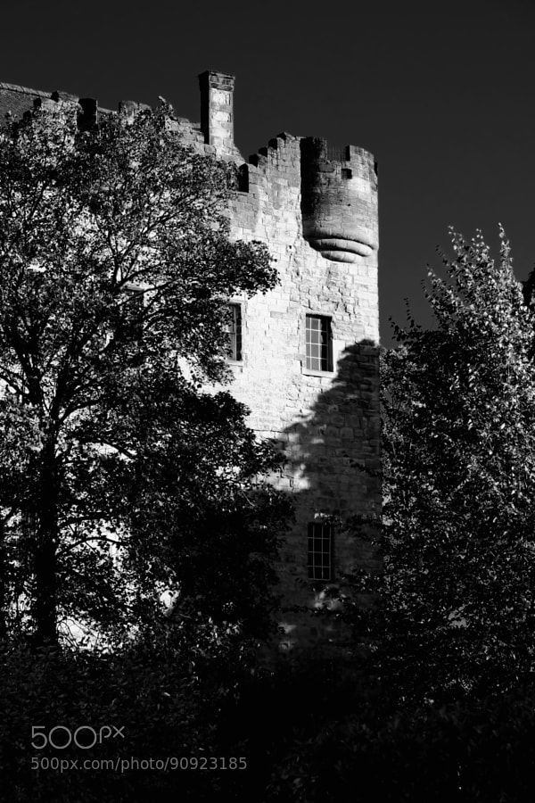 Alloa Tower in Alloa in central Scotland is the surviving part of the medieval residence of the Erskine family, later Earls of Mar.  Dating from the 14th century, and retaining its original timber roof and battlements, the Tower is one of the earliest, and largest, of Scottish tower houses, with immensely thick walls.
