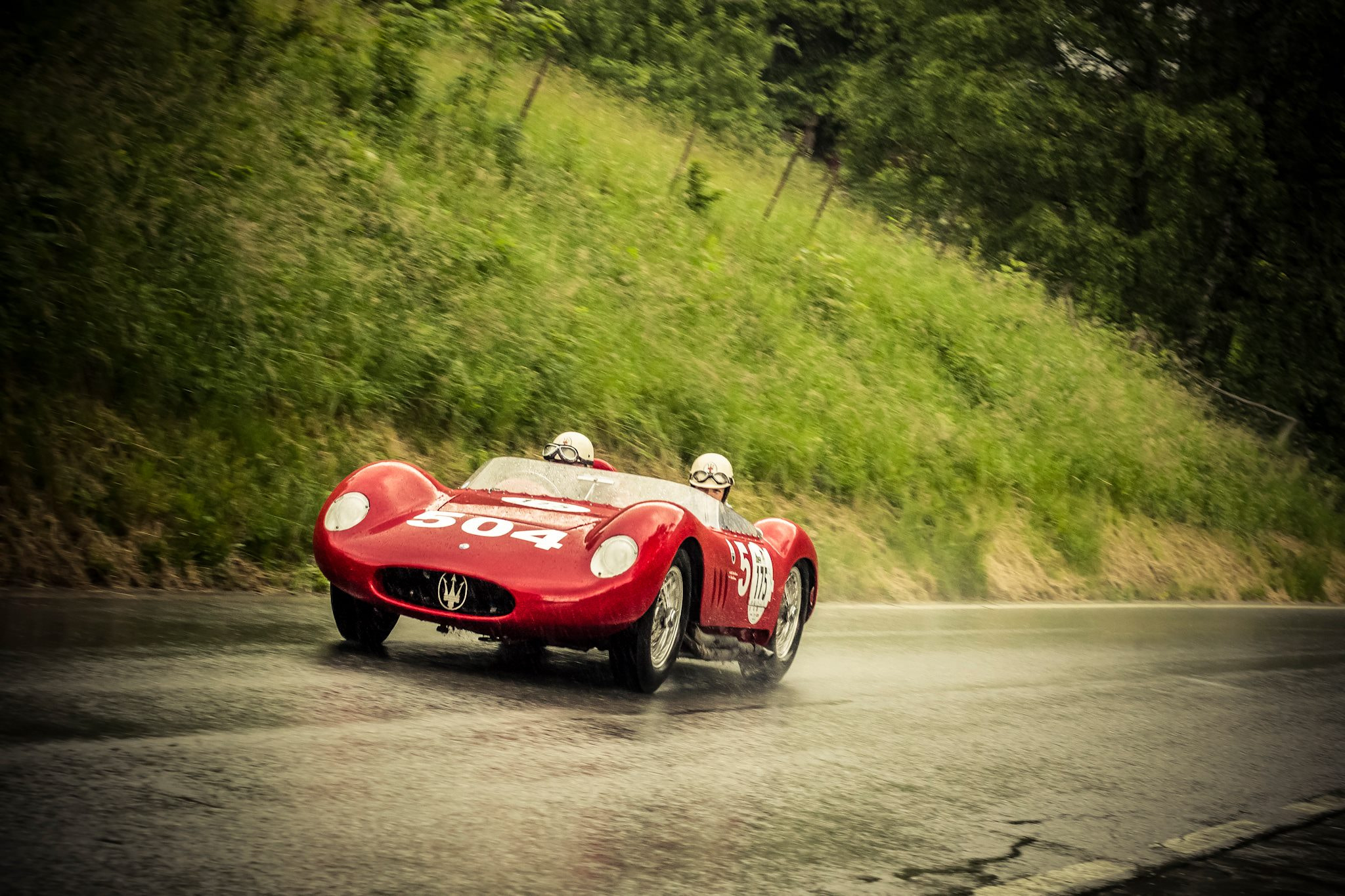 Photograph Maserati 200 SI in the rain by Marco Guerreiro on 500px