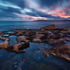 Until the creation of this image, I had been on something of a hiatus, having not shot a seascape in several months.  As of this morning, that drought has been broken, with south Cronulla offering me an interesting, colourful sky in the pre-dawn light.