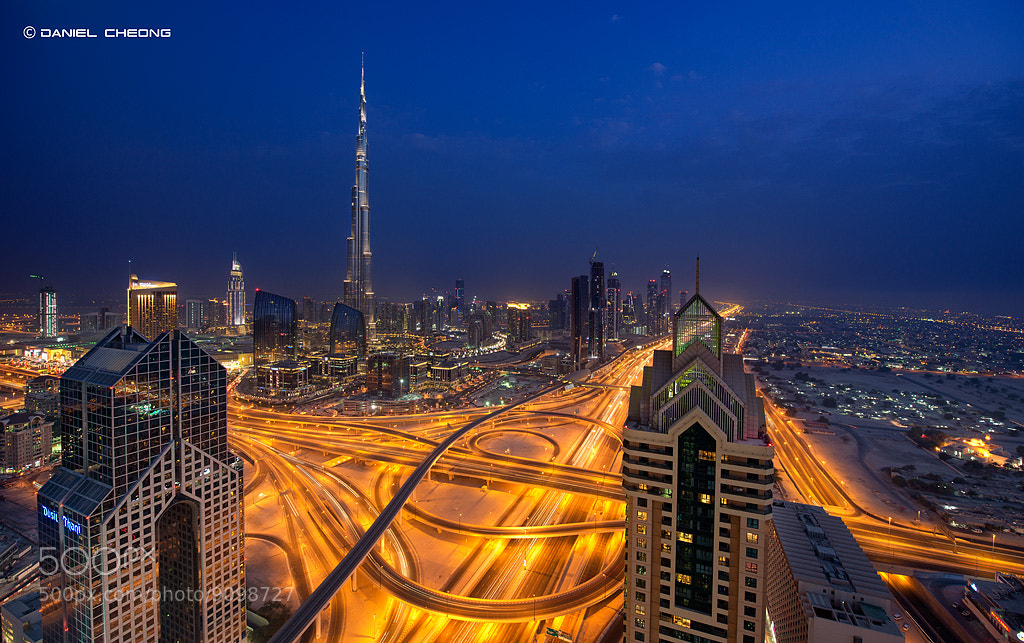 Photograph The Golden Veins Of Dubai by Daniel Cheong on 500px