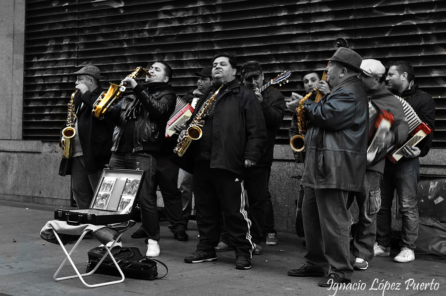 Photograph Músicos de Madrid by Ignacio López Puerto on 500px