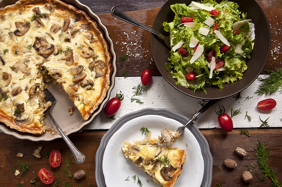 Quiche with bacon, mushrooms and onion by Kristiyan Minkov on 500px.com