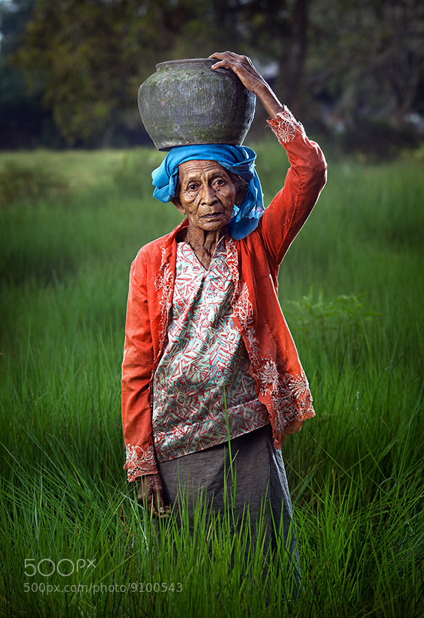 Photograph older women and the green grass' by abe less on 500px