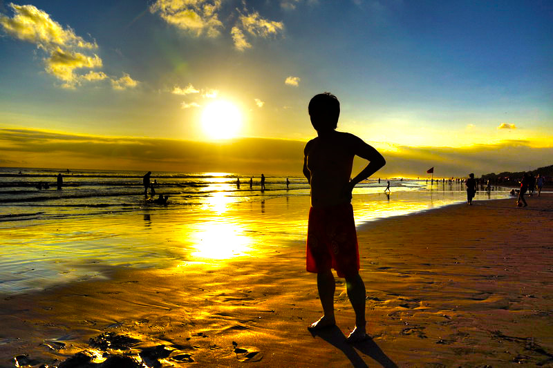 Photograph Silhouette seminyak beach Bali by timothy wang on 500px