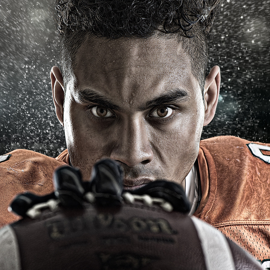Photograph Portrait of gridiron player by Tony Bowler on 500px