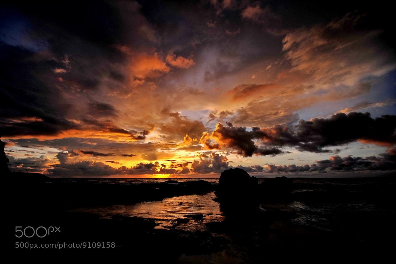 Photograph A beautiful sunset@Carita-Banten,Indonesia by Mia Besari on 500px