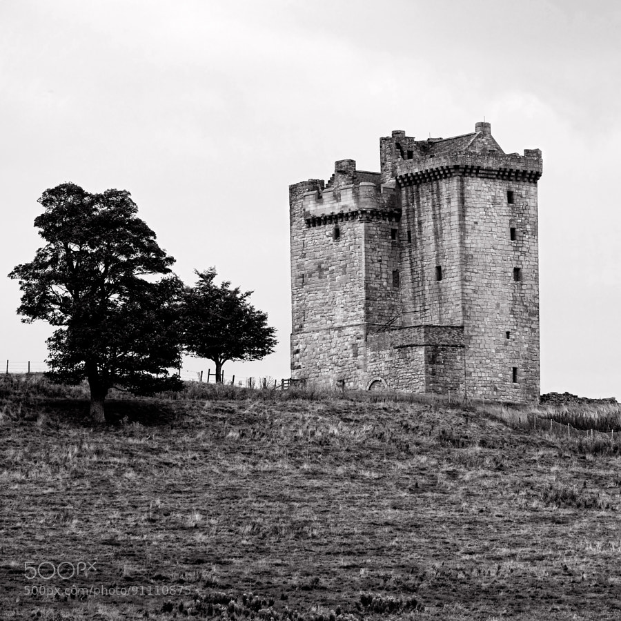 Clackmannan Tower is a five-storey tower house, situated at the summit of King's Seat Hill in Clackmannan, Clackmannanshire, Scotland. It was built in the 14th century by King David II of Scotland and sold to his cousin Robert Bruce in 1359.