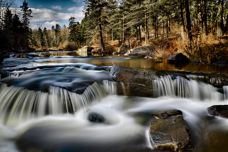 The river Du Moulin in November. 11/05/2014 by Normand Gaudreault on 500px.com