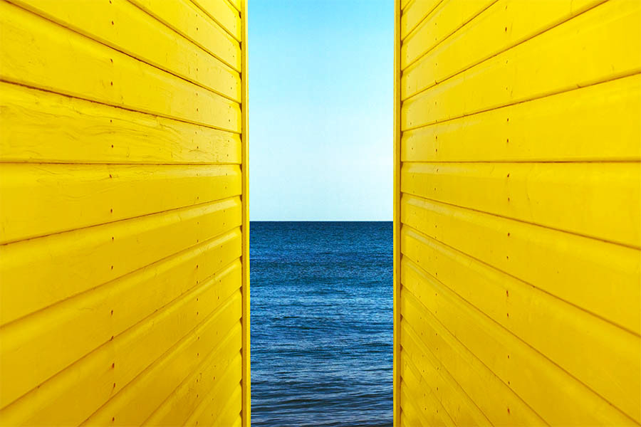 Photograph 2 Yellow Beach Huts by Deceptive Media on 500px