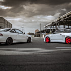 Постер, плакат: Honda Integra Type R turbo & Honda CR X ED9