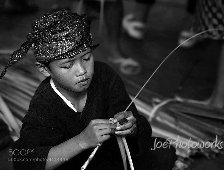 """Photograph Crafting boy from """"Kampung Naga"""" by johanes  siahaya on 500px"""