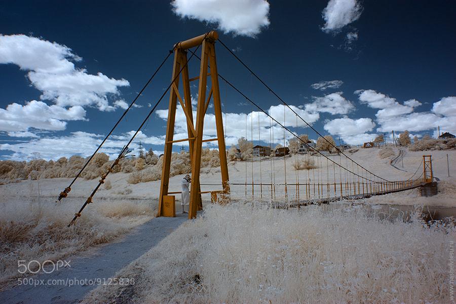 Photograph hanging bridge in IR by Konstantin Ivanov on 500px
