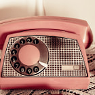 Постер, плакат: Retro rotary dial phone sepia toned