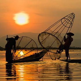 Sunset Inle lake by Hai Thinh (haikeu)) on 500px.com