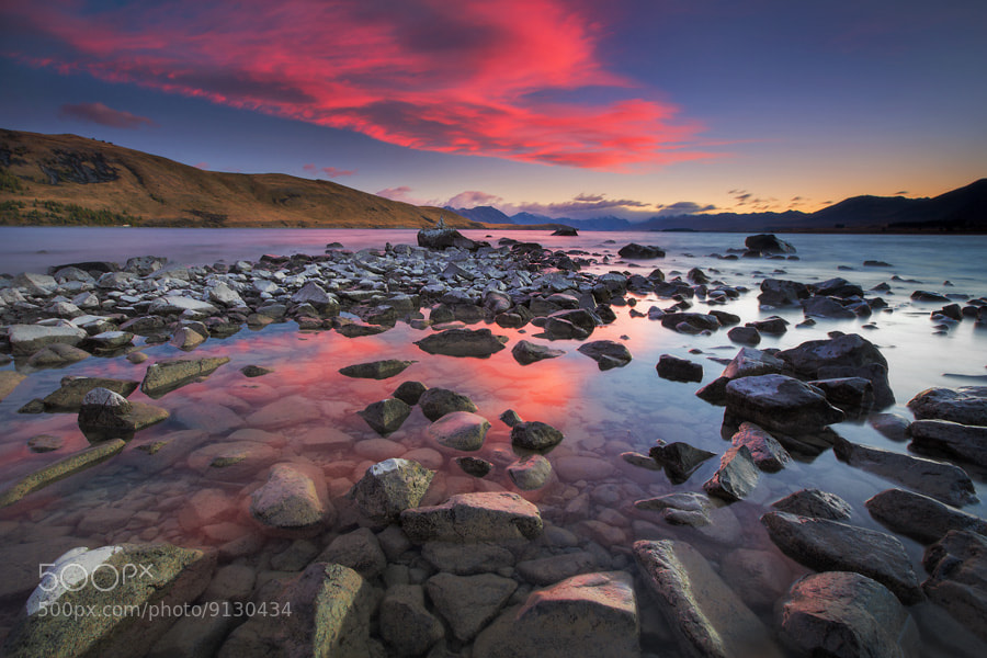 Photograph Tekapo Blaze by Dylan Toh  & Marianne Lim on 500px