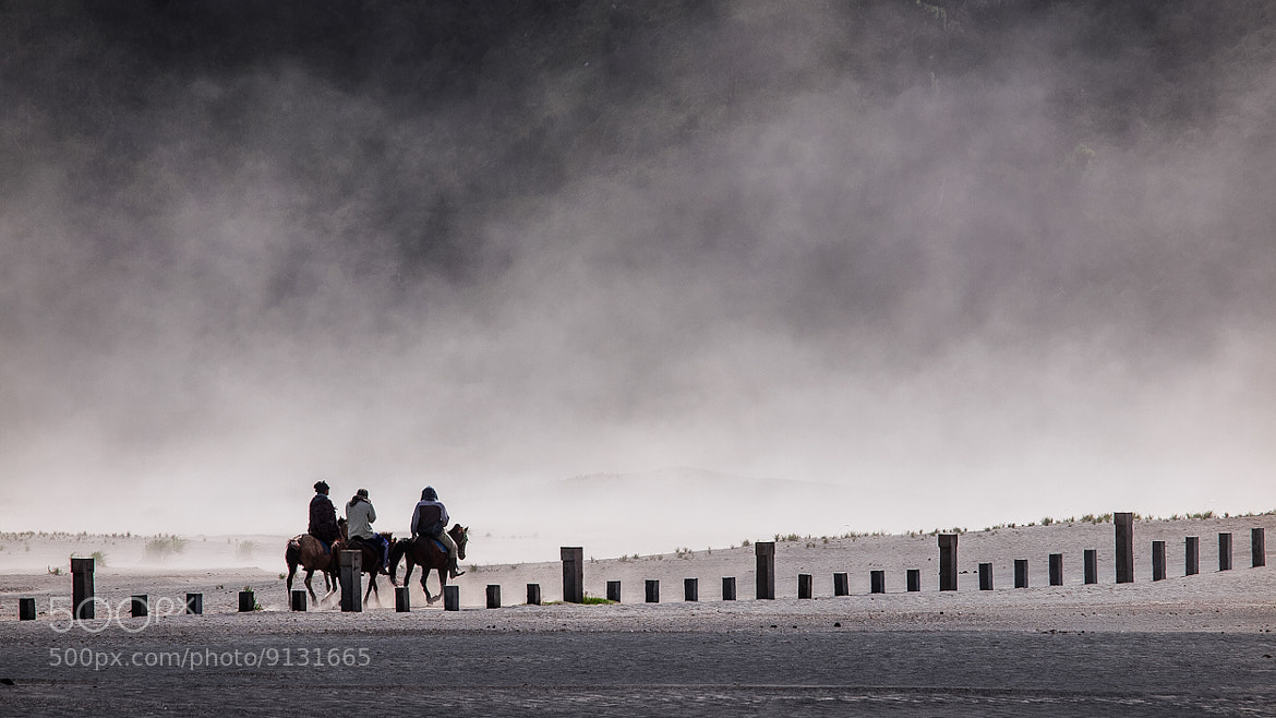 Photograph A Long Road With Sand Storm by Rose Kampoong on 500px