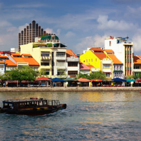 Singapore River (Boat Quay 驳船码头) #01 by Eddie Cheng (yewyuee)) on 500px.com