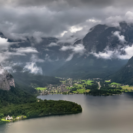 Obertraun from Hallstatt, Austria