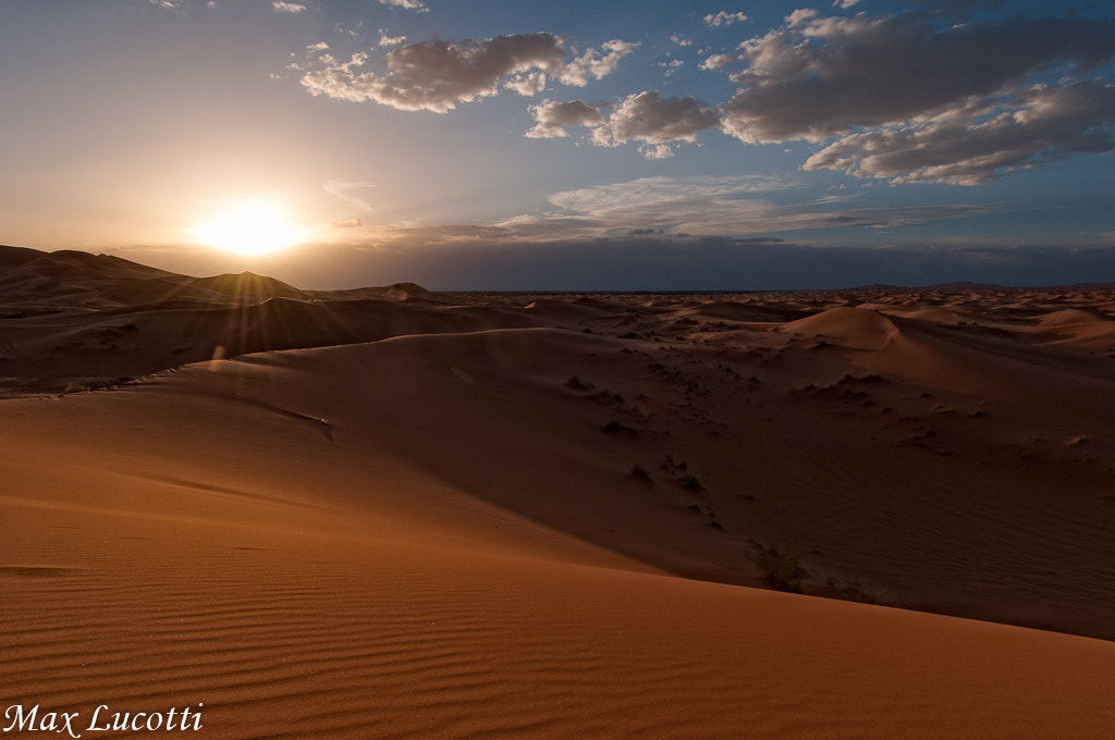 Photograph Erg Chebbi at sunset by Max Lucotti on 500px