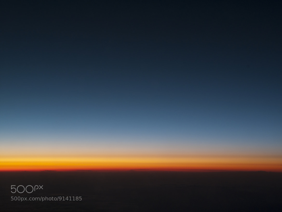 Photograph Sunset above the clouds by  Sanchez on 500px