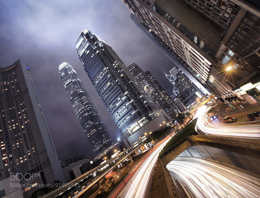 Photograph Hong Kong Light Trails by Jimmy Mcintyre on 500px