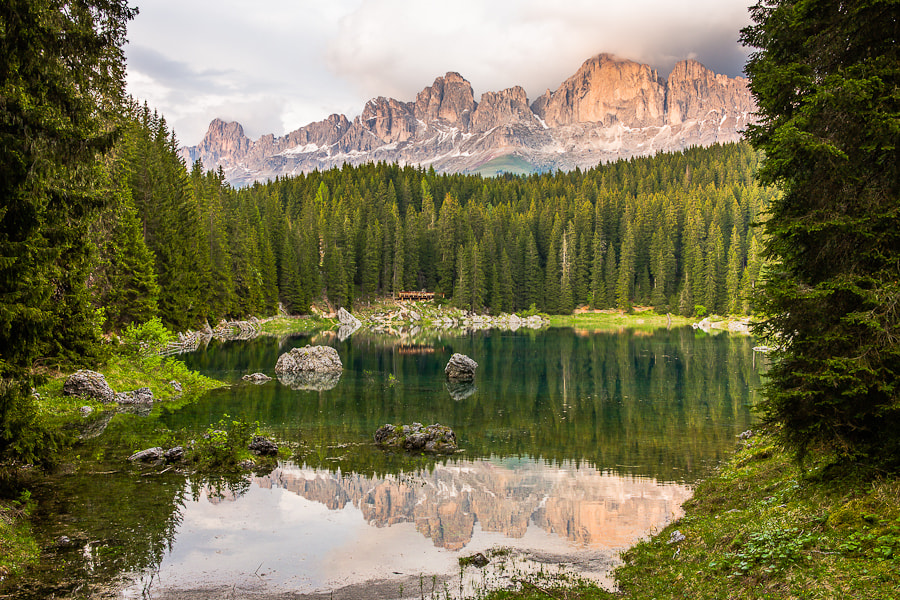 Photograph Lago di Carezza and Rosengarten by Hans Kruse on 500px