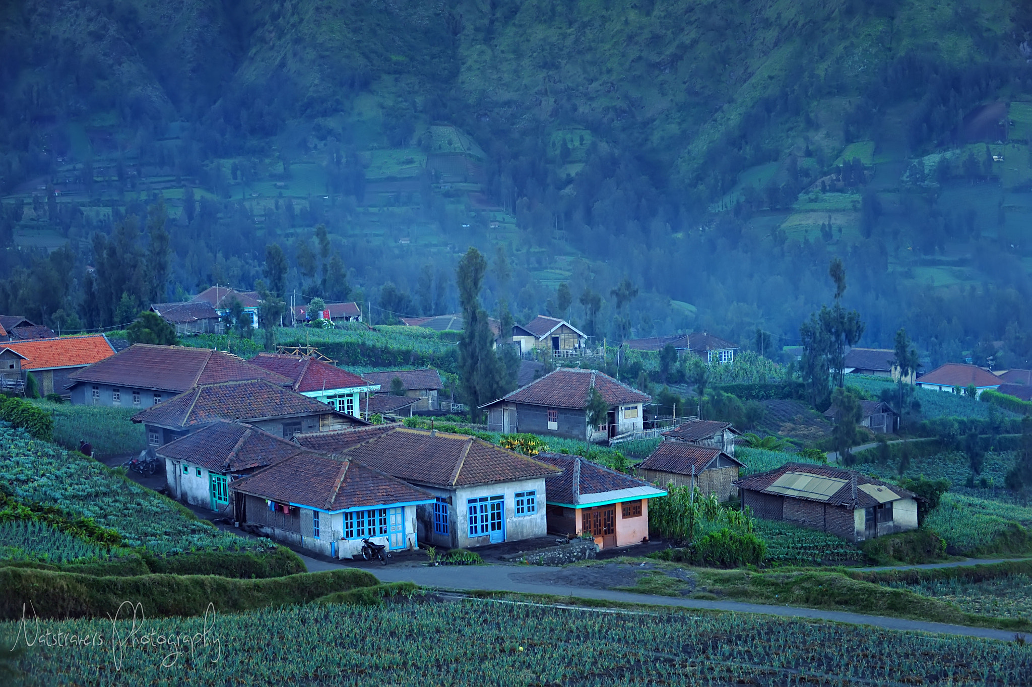 Photograph Colourful Tenggerese farm house, Cemoro Lawang by Nathalie Stravers on 500px