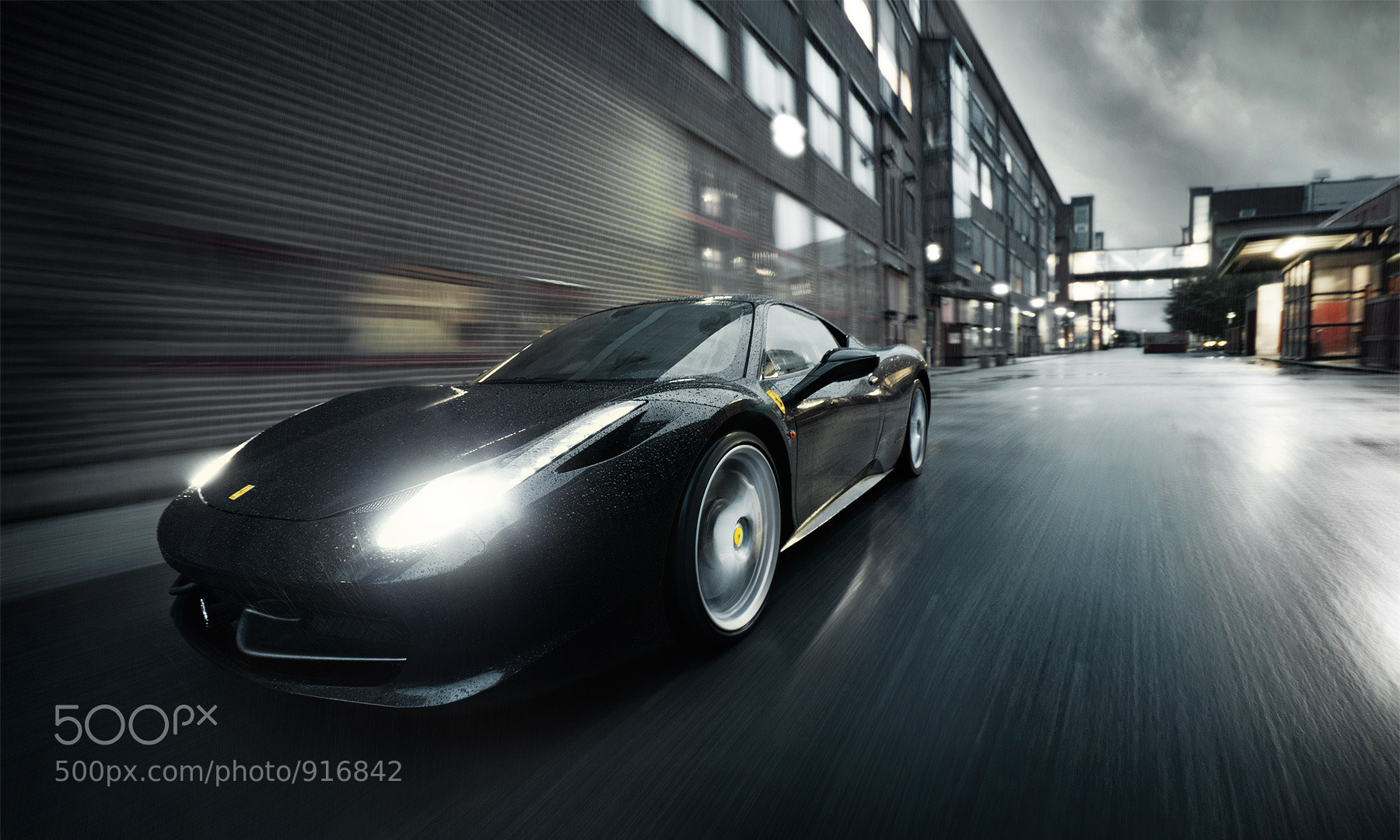 Photograph Ferrari 458 italia - The Dark Knight 2 by Dejan Sokolovski on 500px