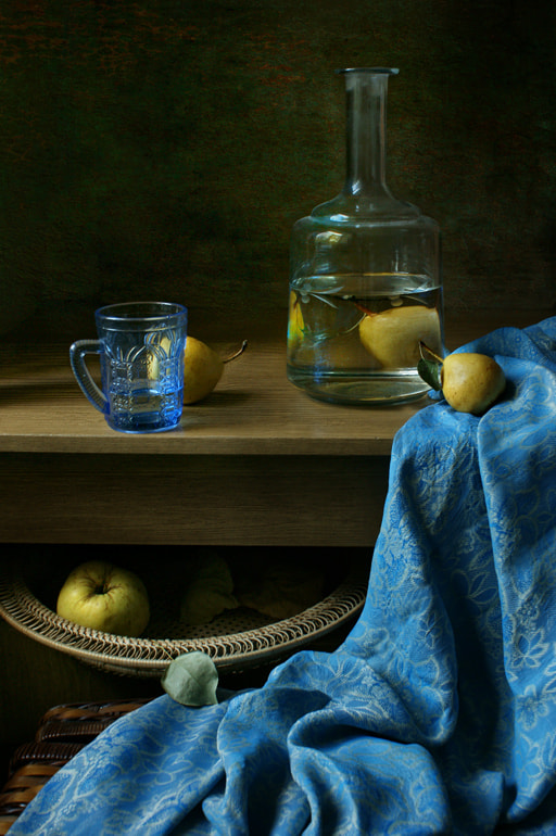 Photograph The decanter and blue cloth. by Elena Kolesneva on 500px