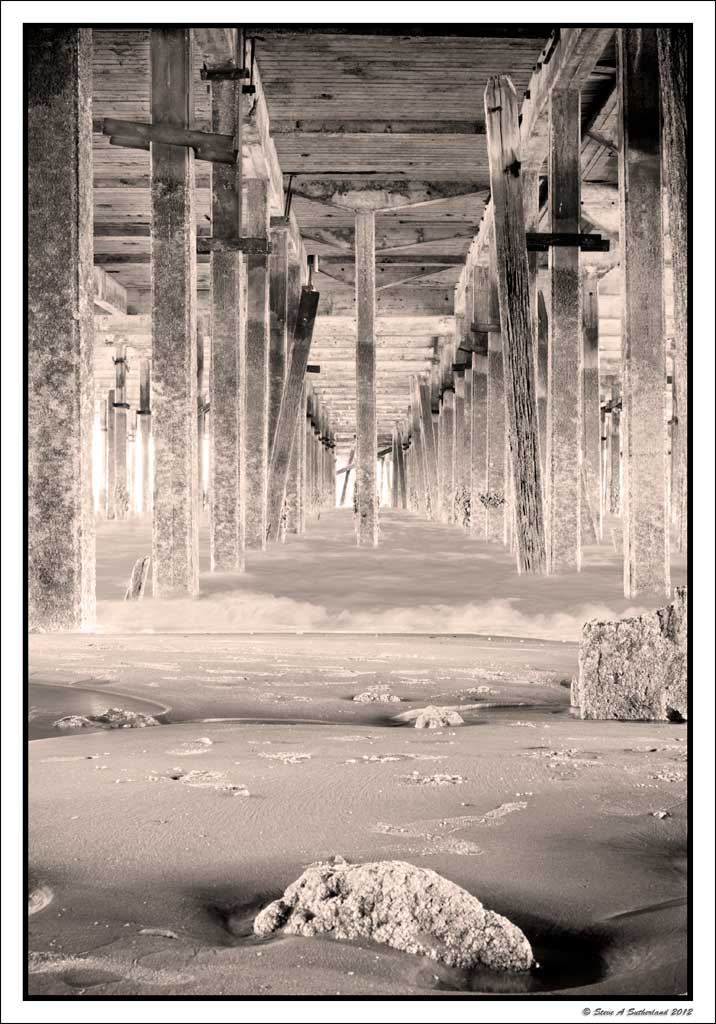 Photograph Under The  Boardwalk Sepia by Steve Sutherland on 500px