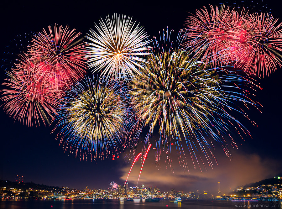 Photograph Seattle Fireworks 4th July by Nitin Kansal on 500px