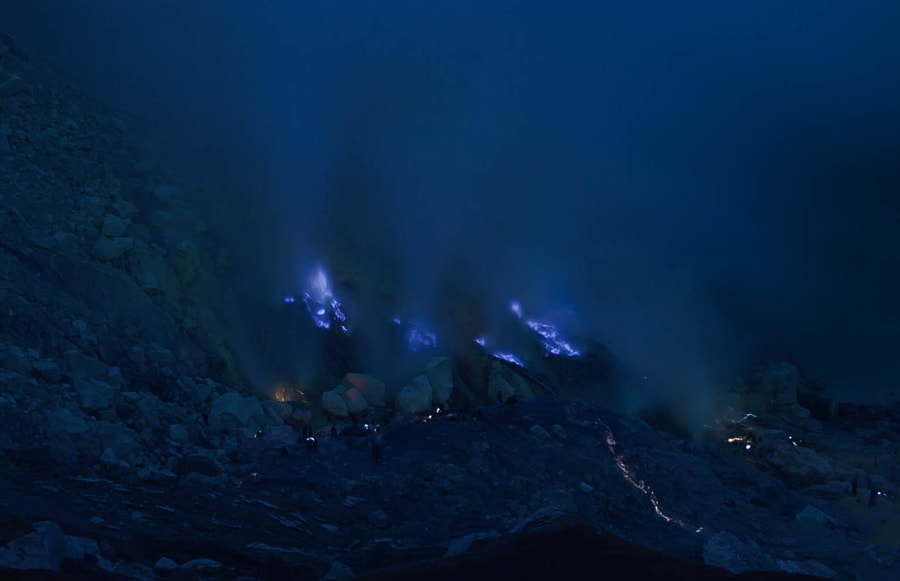 Photograph Kawah Ijen Blue Flames by Leo Gomez on 500px