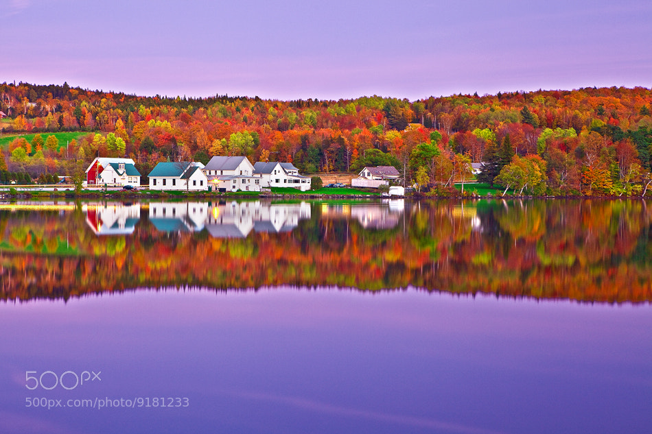 Photograph Vermont, Lake Elmore, Foliage, Fall Colors, Moonlight by ya zhang on 500px