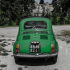 A sweet Fiat 500 from the 500 Touring Club fleet in Florence.